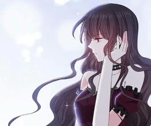 anime, black hair, and demon image
