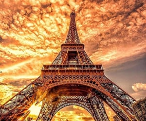 aesthetic, eiffel tower, and nature image