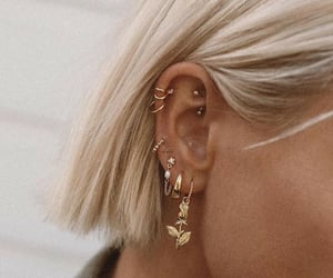 accesories, ear, and jewelry image