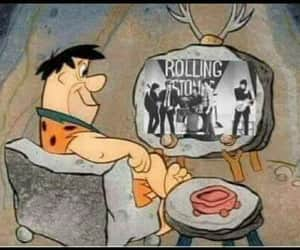 rolling stones, the flintstones, and rock image