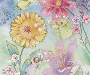 fairy, archive, and flowers image