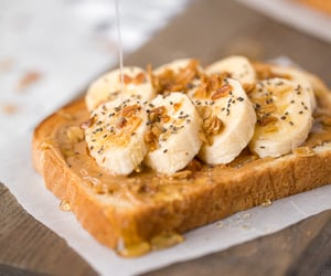 banana, food, and savory image