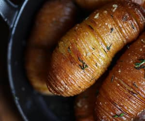 hasselback potato, herb, and thyme image