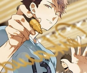 anime, haikyu, and oikawa image