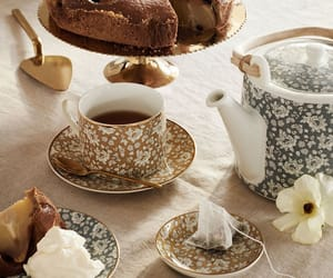 cup, tea, and pear cake image