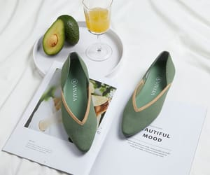shoes, avocado, and ballet flats image