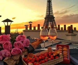 цветы, эйфелева башня, and еда image