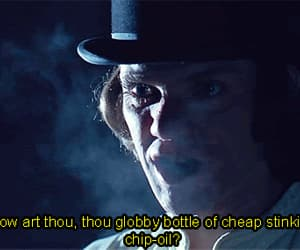a clockwork orange, malcom mcdowell, and gif image