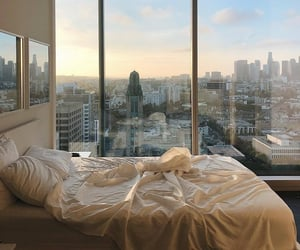 home, bedroom, and city image