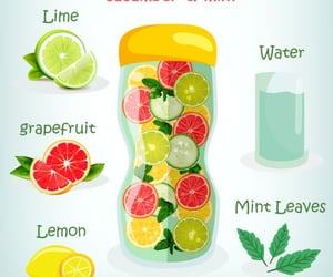 detox, summer drinks, and infused water image