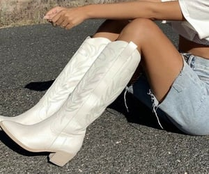 fashion, boots, and cowboy image