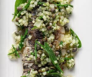 caper, herb, and seafood image