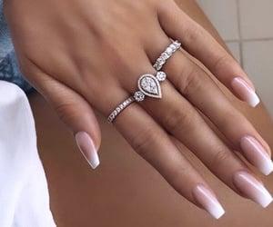 diamonds, pretty nails, and elegant nails image