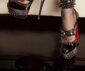 louboutins, christianlouboutin, and spikes image
