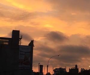 cloudy, orange, and sky image