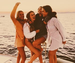 boat, friendship, and friends image