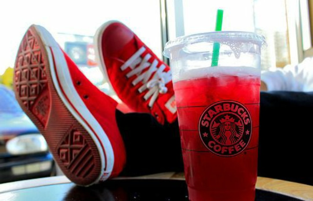 coffee, summer, and red image