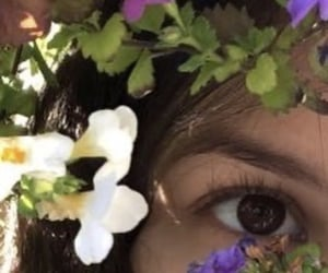 eh, eye, and flower image