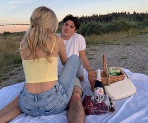 nature, picnic, and love image