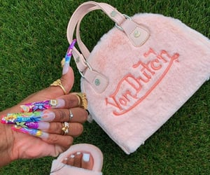 acrylics, von dutch, and coffin nails image