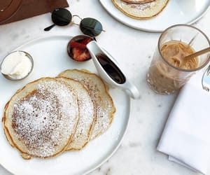 coffee, food, and pancakes image