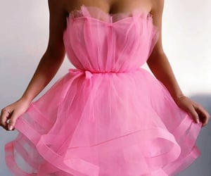 pink, style, and dress image