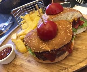 burger, dinner, and having fun image
