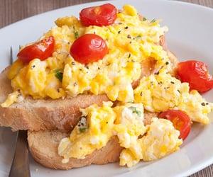 breakfast, food, and scrambled eggs image