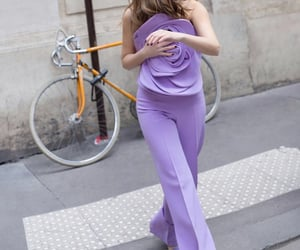 pants, lilac, and outfit image