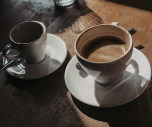 coffee, drinks, and morning image