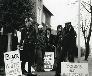 black and white, the clash, and blm image
