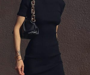 black dress, blogger, and bottega veneta image