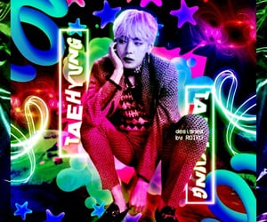 inspiration, taehyung, and neon edit image