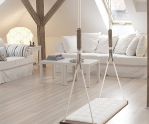 room, white, and swing image