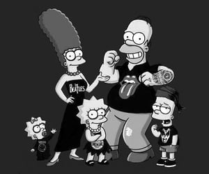 simpsons, rock, and the simpsons image