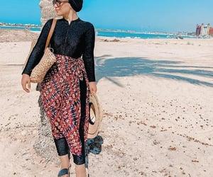 modest swimwear, burkini swimming suits, and swimwear with hijab image