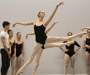ballerina, ballet, and class image