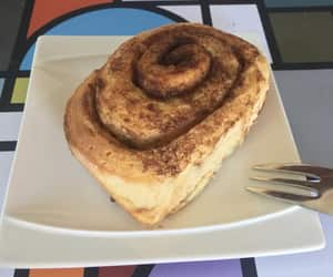 cake, chocolate, and cinnamon roll image