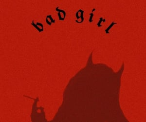 bad girl, Devil, and red image