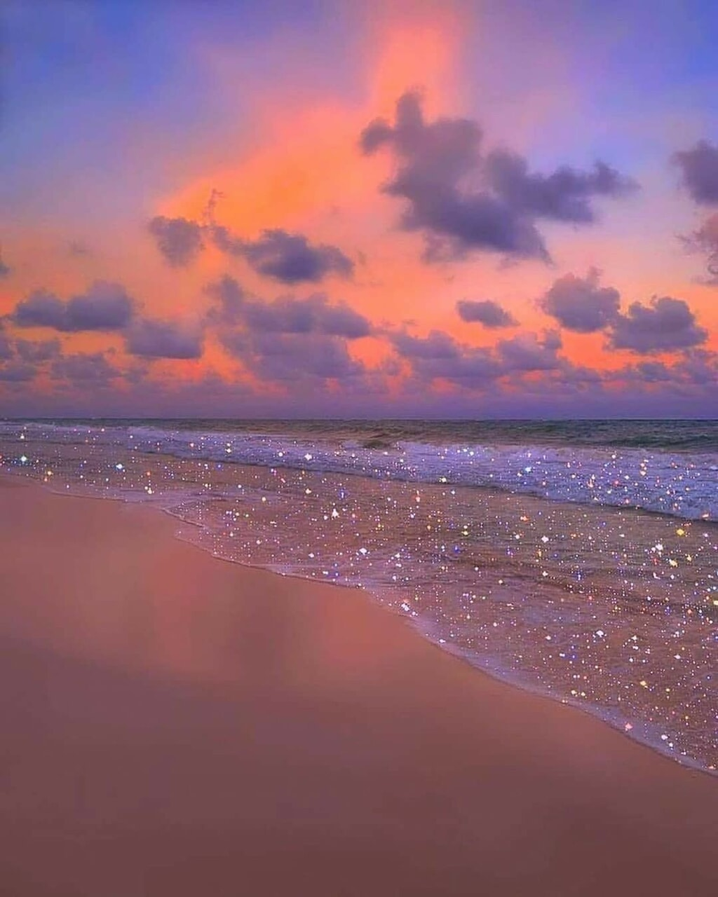 aesthetic, beach, and glitter image