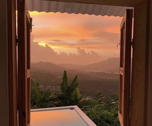 nature, sunset, and beautiful image