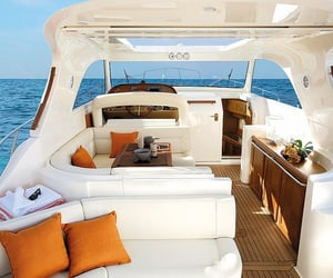 luxury, sea, and boat image