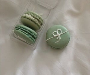 aesthetic, green, and macrons image