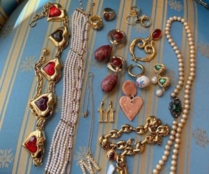 bling, jewels, and necklace image
