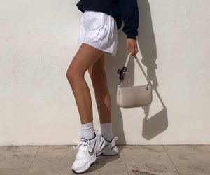 white mini skirt, fashionista fashionable, and fashion style mode image