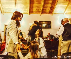 dad, daughters, and wedding reception image