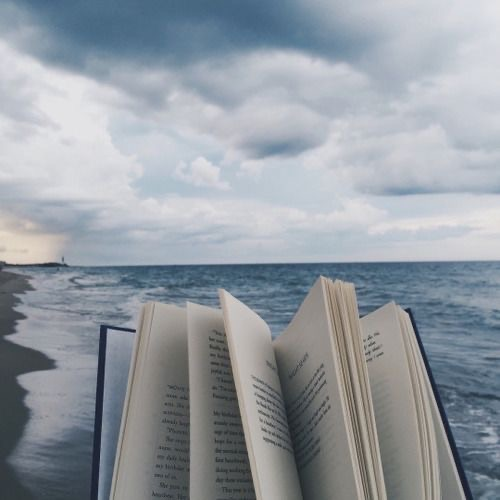 book and sea image