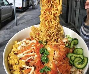 bowl, glossluvz, and corn image