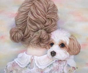 animal, girl, and wallpaper image