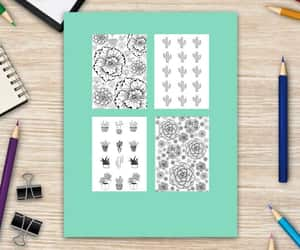 coloring book, eBook, and doodle image